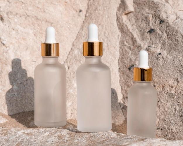 Disposição de conta-gotas de óleo de pele