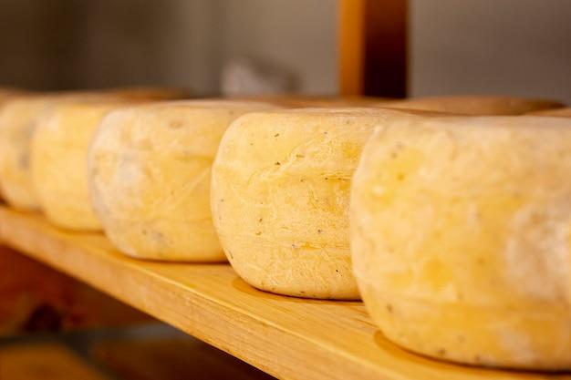Disposição de queijos saudáveis