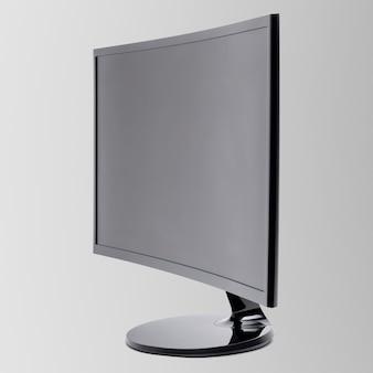 Dispositivo digital com monitor curvilíneo de computador