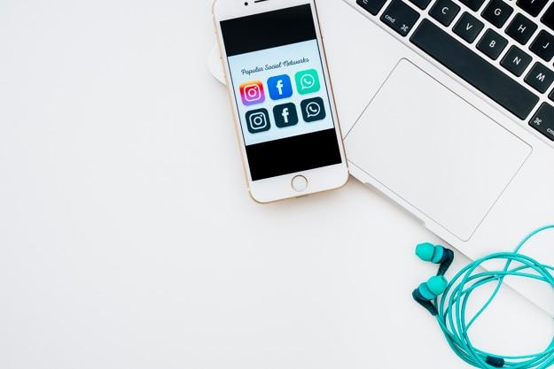 Dispositivos, instagram, facebook e whatsapp