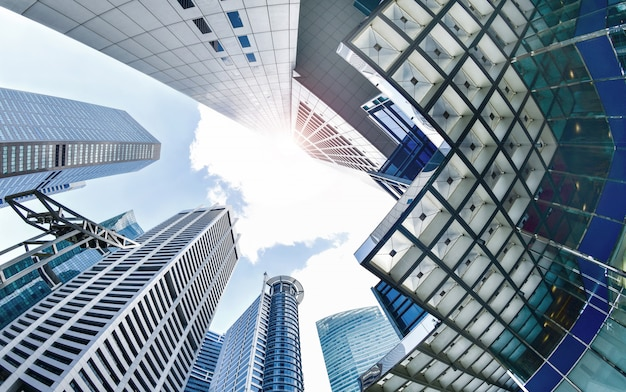 Distrito central de negócios em cingapura.