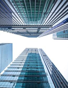 Distrito de azul manhattan fundo de altura