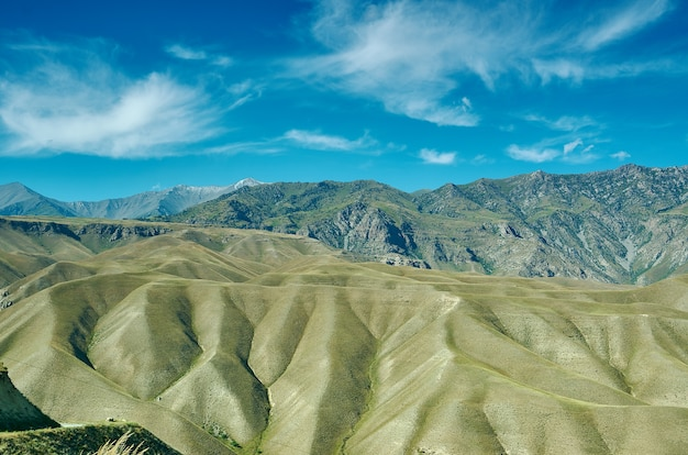 Distrito de planalto montanhoso da região de jalal-abad, no oeste do quirguistão
