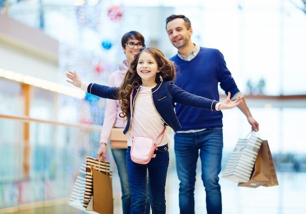 Diversão durante as compras