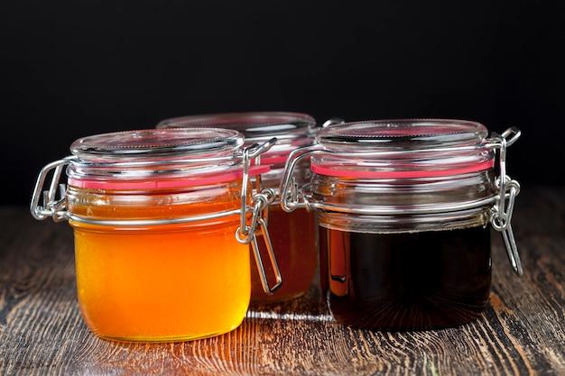 Diversas variedades de mel de flores