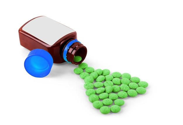 Diversos comprimidos e cápsulas de remédios farmacêuticos para o tratamento