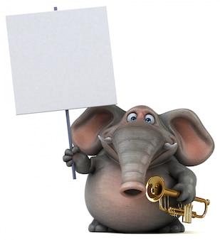Divertido elefante - ilustração 3d