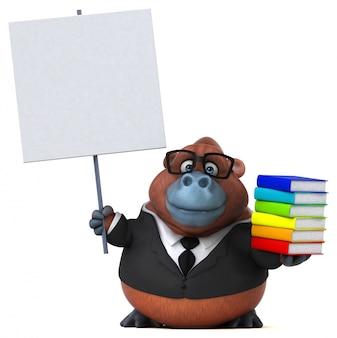 Divertido orang outan - ilustração 3d