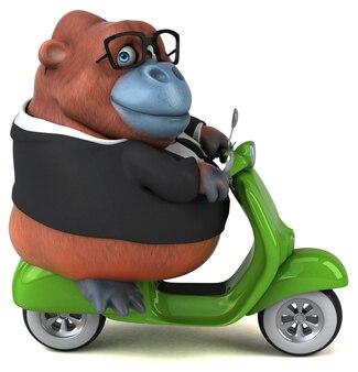 Divertido orang-outan - ilustração 3d