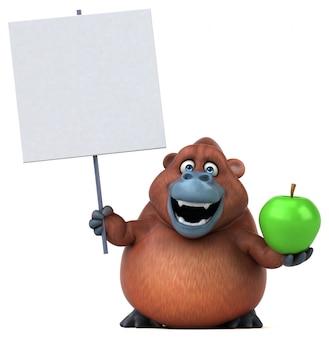 Divertido orangotango - ilustração 3d