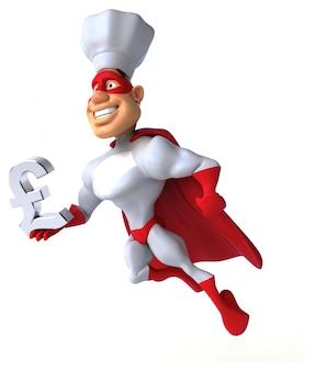 Divertido personagem de super-herói isolado - ilustração 3d