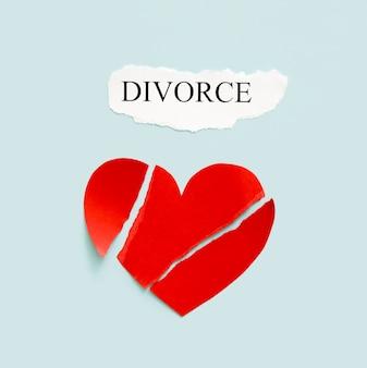 Divórcio com coração de papel