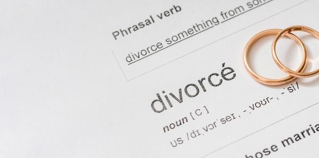 Divórcio substantivo no dicionário