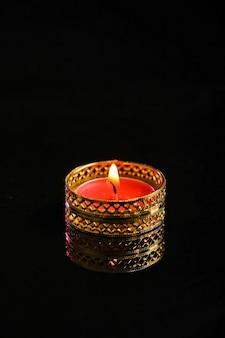 Diya ou lampião a óleo preto