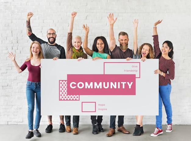 Doação de apoio voluntário de serviço comunitário Foto gratuita