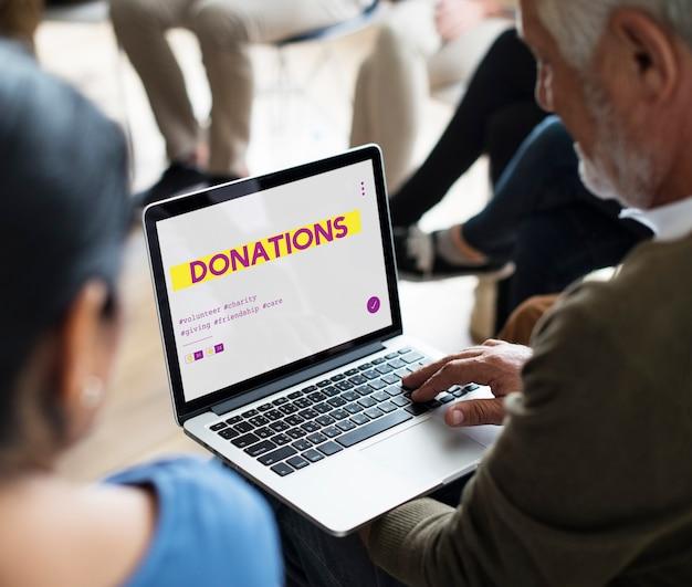 Doação de apoio voluntário para serviços comunitários