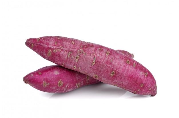 Doce de batata roxa isolado