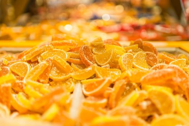 Doce de fruta laranja