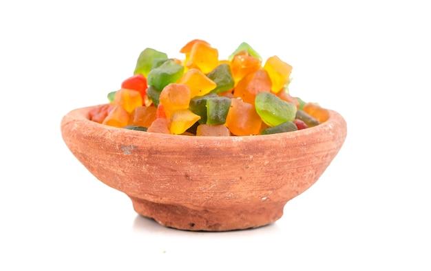Doce de frutas coloridas
