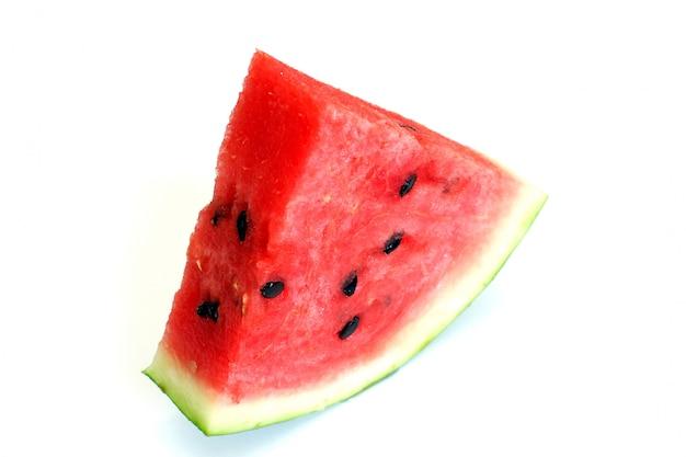 Doce melancia fatiada com caule seco cortar alimentos