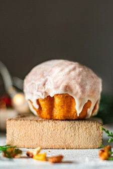 Doce sobremesa pastelaria biscoitos pão ou pão de gengibre mimo natal