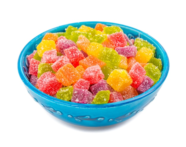Doces de açúcar de fruta colorida
