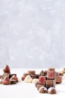 Doces de chocolate dia dos namorados