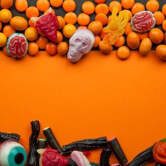 Doces de halloween com lentilhas
