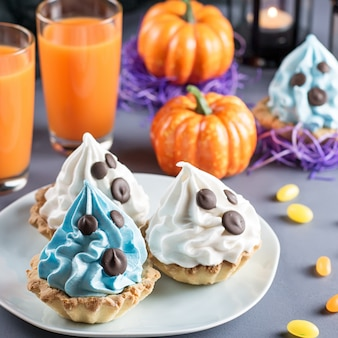 Doces de halloween, comida de festa para o feriado