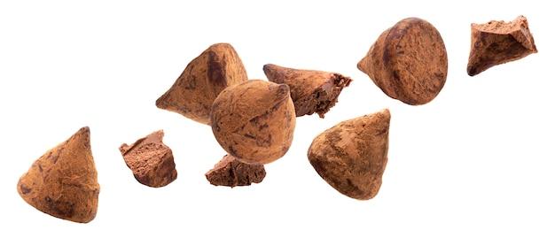 Doces de trufa de chocolate