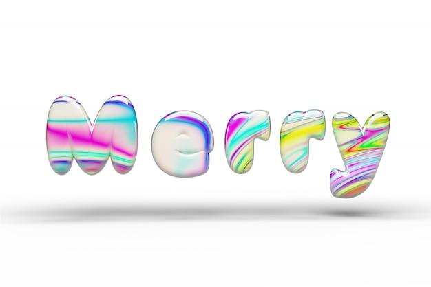 Doces doces palavra alegre multi-coloridas em branco isolado