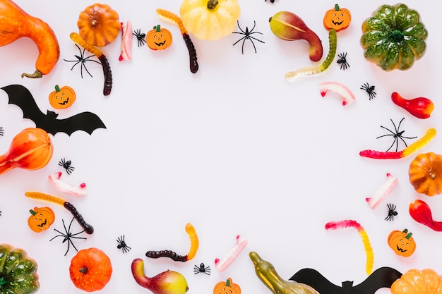 Doces e decoração para o halloween