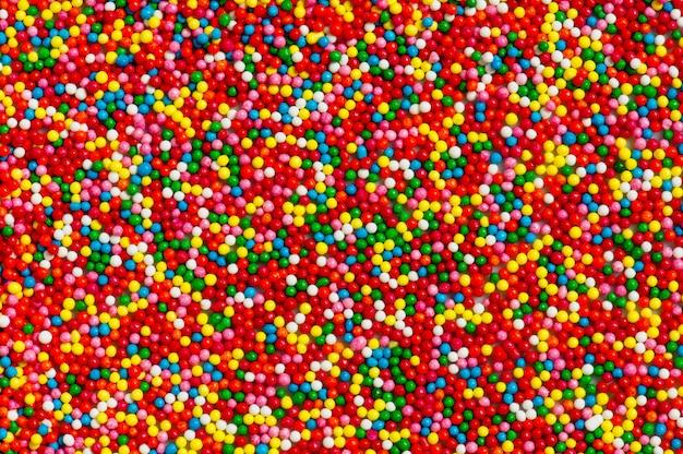 Doces multicoloridos brilhantes