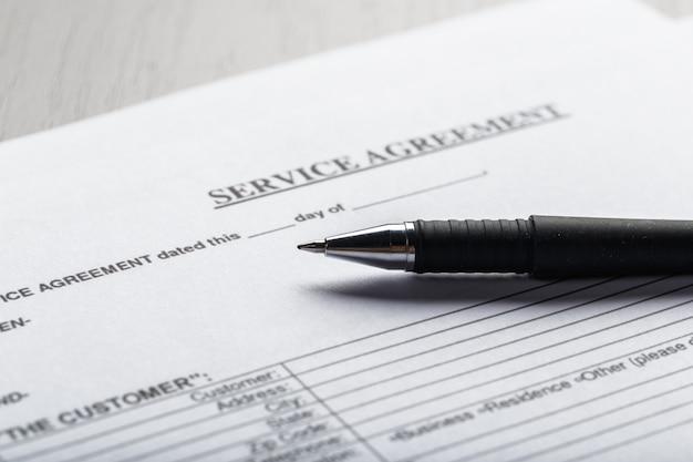 Documento de contrato de locação ou arrendamento