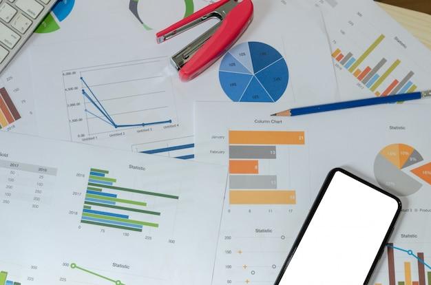 Documento de negócios financeiro