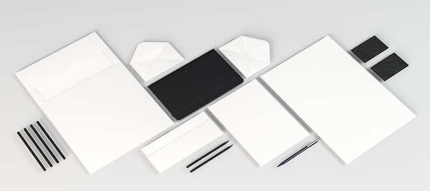 Documentos em papel branco vazio
