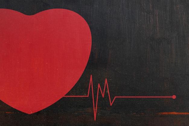 Doença cardíaca com espaço para texto
