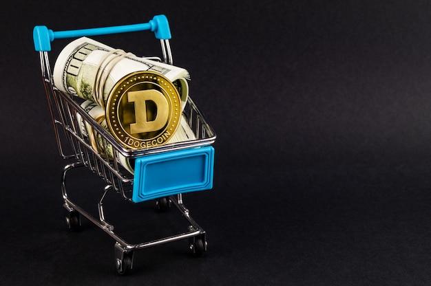 Dogecoin doge cryptocurrency meio de pagamento no setor financeiro