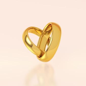Dois anéis de casamento de ouro