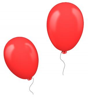 Dois balões vermelhos