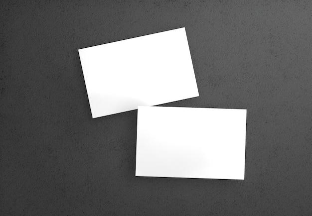 Dois cartões de visita isolados