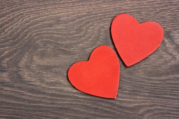 Dois corações vermelhos