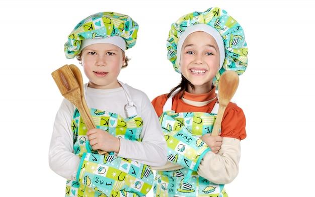 Dois futuros cozinheiros