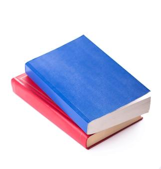 Dois livros brilhantes em branco