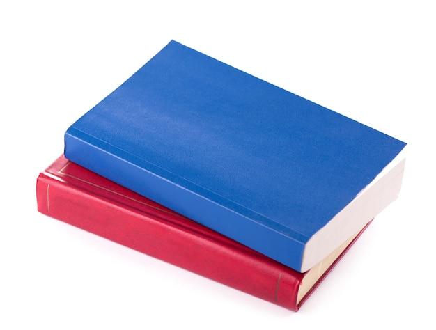 Dois livros brilhantes em um fundo branco