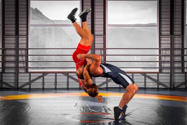 Dois lutadores fortes lutando