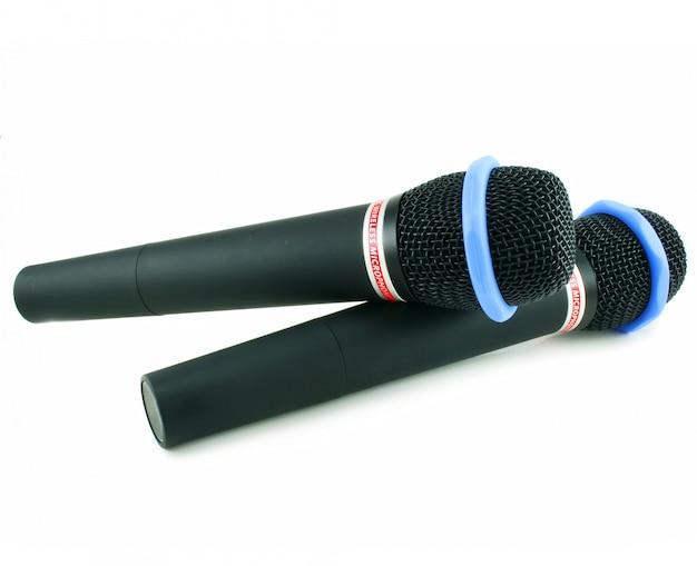 Dois microfones sem fio