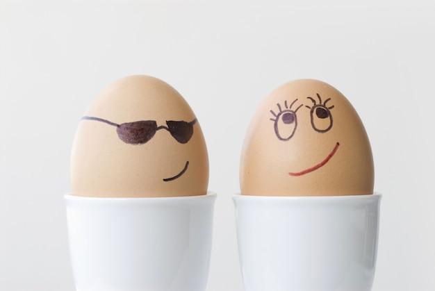 Dois ovos cozidos no amor