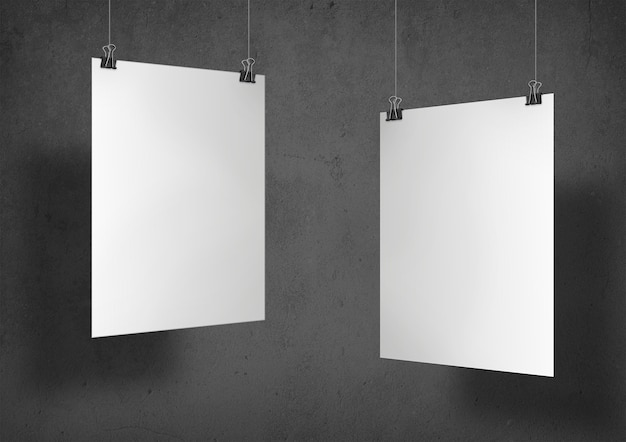 Dois pôsteres brancos