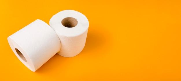 Dois rolos de papel higiênico